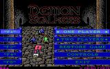 Demon Stalkers DOS The main menu (EGA)