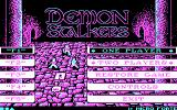Demon Stalkers DOS The main menu (CGA)