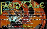 The Faery Tale Adventure: Book I DOS Title screen (EGA)