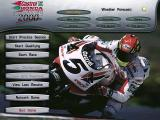 Castrol Honda Superbike 2000 Windows Title Screen. Weather forecast: sunny.