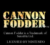 Cannon Fodder Game Boy Color Title screen