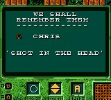 Cannon Fodder Game Boy Color Chris was a bullhead.