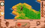 Indiana Jones and the Fate of Atlantis: The Action Game Amiga Indy searches the island.