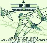 Top Gun: Guts & Glory Game Boy Title screen