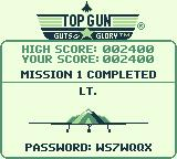 Top Gun: Guts & Glory Game Boy Mission complete