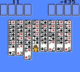 Solitaire FunPak Game Gear A basic game of Freecell