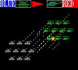 Daisenryaku G Game Gear Animation of the ground-to-air battle