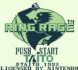 Ring Rage Game Boy Title screen