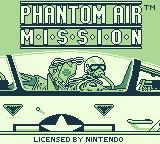 Turn and Burn: The F-14 Dogfight Simulator Game Boy Title screen