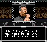 WWF Wrestlemania 2000 Game Boy Color Vince on the big screen
