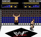 WWF Wrestlemania 2000 Game Boy Color Mankind try to escape