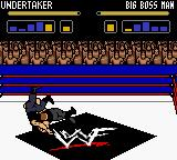 WWF Wrestlemania 2000 Game Boy Color Big Boss Man start a brawl with Undertaker