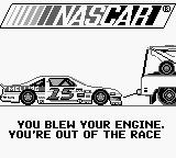 Bill Elliott's NASCAR Fast Tracks Game Boy Oh no...