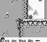 Turok: Battle of the Bionosaurs Game Boy You try to climb a mountain.