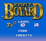 Fort Boyard Game Boy Color Main menu