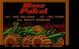 Moon Patrol PC Booter Title Screen