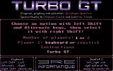 Turbo GT Atari ST Main menu