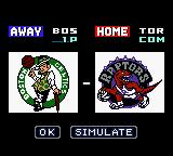 NBA in the Zone 2000 Game Boy Color VS screen