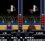 NBA in the Zone 2000 Game Boy Color The shootout