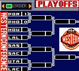 NBA in the Zone 2000 Game Boy Color The playoffs