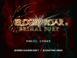 Bloody Roar: Primal Fury GameCube Title screen