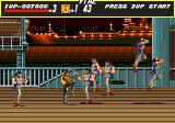 Streets of Rage Genesis Stage 5: Karateka's come flying in from every corner of the screen.