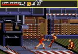 Streets of Rage Genesis Stage 6 is filled with dangerous industrial presses and conveyor belts.
