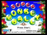 Super Monkey Ball GameCube Title screen