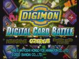 Digimon Digital Card Battle PlayStation Main menu