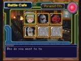 Digimon Digital Card Battle PlayStation Inside a battle cafe. Challenge other traders to battle.