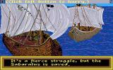 Sinbad and the Throne of the Falcon Amiga Pirates attack the ship while Sinbad is ashore