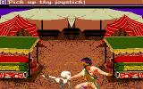 Sinbad and the Throne of the Falcon Amiga Fighting a skeleton