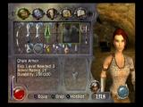 Drakan: The Ancients' Gates PlayStation 2 Inventory screen allows access to gear, maps, spells, skills and quest log