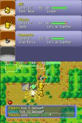 Pokémon Mystery Dungeon: Blue Rescue Team Nintendo DS Pikachu used Thunder Wave.