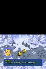 Pokémon Mystery Dungeon: Blue Rescue Team Nintendo DS It's freezing.