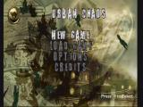 Urban Chaos PlayStation Main menu