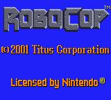 RoboCop Game Boy Color Title screen