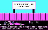 Pitstop II PC Booter Title Screen