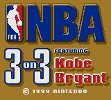 NBA 3 on 3 featuring Kobe Bryant Game Boy Color Title screen