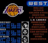 NBA 3 on 3 featuring Kobe Bryant Game Boy Color Select a team.
