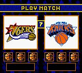 NBA Hoopz Game Boy Color VS screen