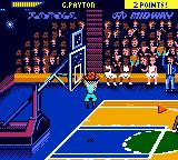 NBA Hoopz Game Boy Color G. Payton flies through the basket.