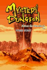 Mystery Dungeon: Shiren the Wanderer Nintendo DS Title screen