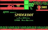 Spiderbot PC Booter Title Screen