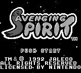 Avenging Spirit Game Boy Title screen