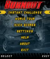 Burnout J2ME Main menu (medium size)