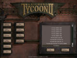 Railroad Tycoon II Windows Main screen where you can load scenarios or the tutorial.