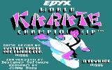 World Karate Championship PC Booter Title screen