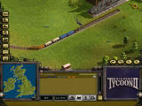Railroad Tycoon II Windows Train arriving at station.