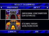 Wolfenstein 3D 3DO Scenario select